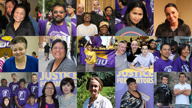 Photo of Justice for Janitors Members