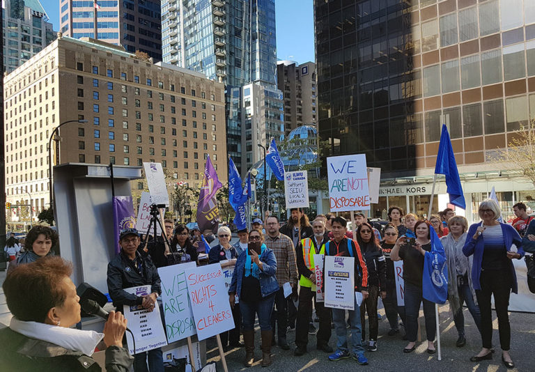 Community Rallies Around Canada Line Janitors