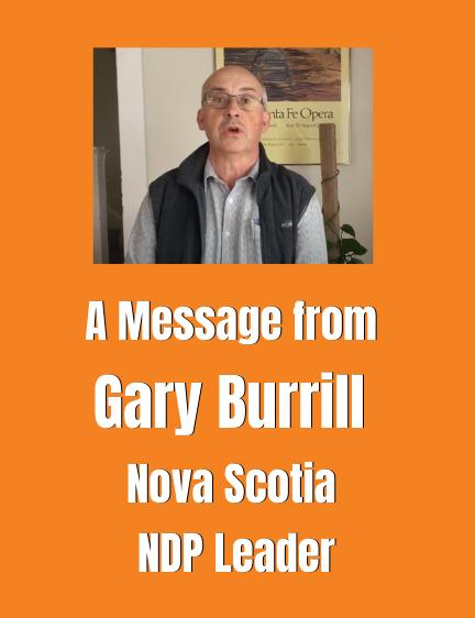 Gary Burrill, Nova Scotia NDP Leader, Endorses J4J Campaign