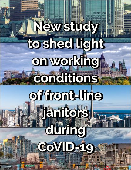 New study to shed light on working conditions of front-line janitors during CoVID-19