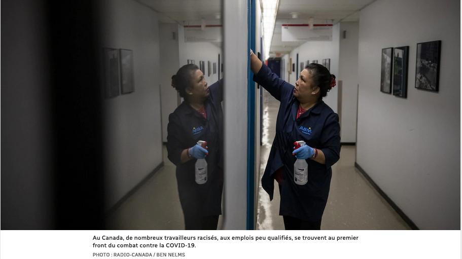 Radio Canada met en lingue un compte rendu sur les injustices envers les travailleurs essentiels durant la pandémie