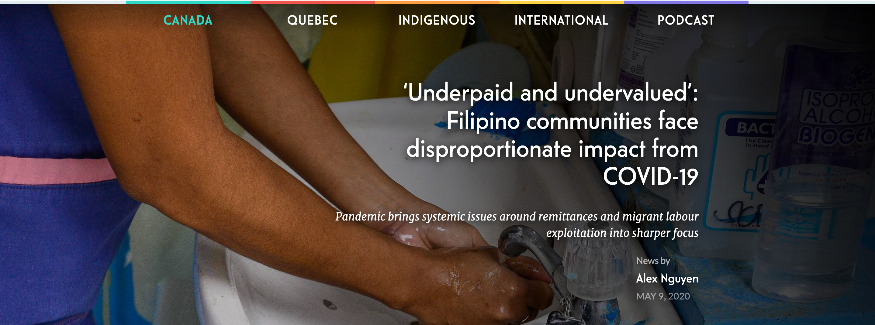 Ricochet highlights Invisible to Essential in story about Filipino workers