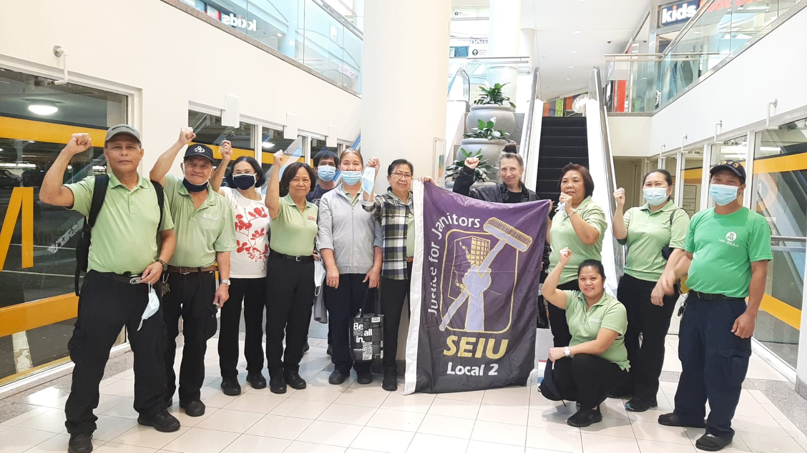 Janitors at British Columbia's Largest Shopping Centre Win Union